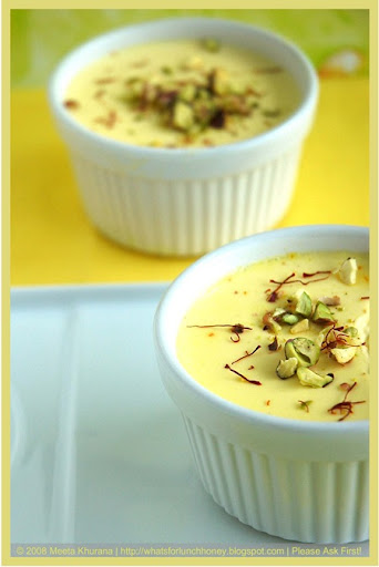 Saffron Cardamom Panna Cotta (16) by MeetaK