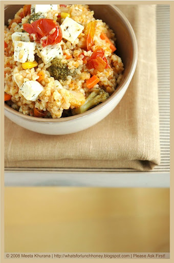 Bulgur Mixed Veg and Feta (04) by MeetaK