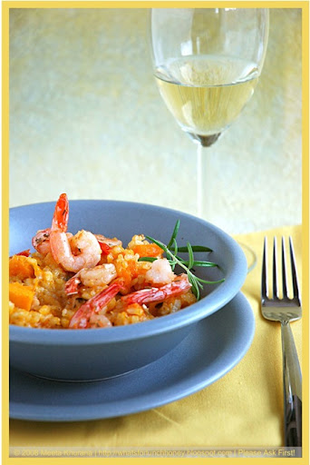 Pumpkin Risotto with Shrimps (01) by MeetaK