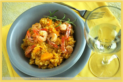 Pumpkin Risotto with Shrimps (04) by MeetaK