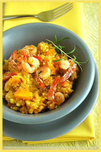 Pumpkin Risotto with Shrimps (02) by MeetaK