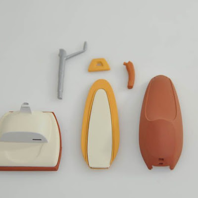 3d printing gallery image of a set of painted parts to be assembled in sla resin
