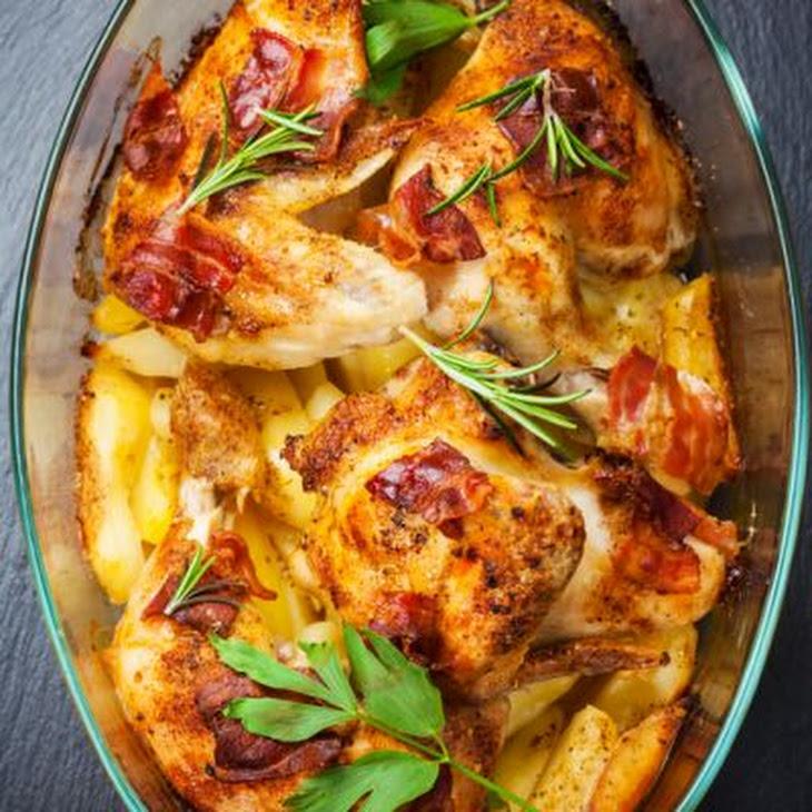 Grilled Creamy Chicken and Bacon Casserole Recipe
