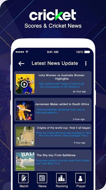 Live Cricket Scores & Live Cricket News