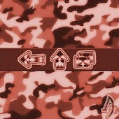 Camouflage Red Xperien Theme