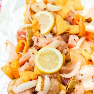 BBQ Chicken + Pineapple Foil Packet Dinner