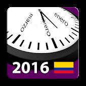Calendario 2016 Colombia