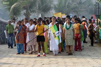 Photo: Rtn Samapti Patel leading