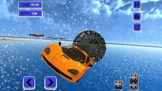 Extreme Rooftop Free Stunt Car Race Top Racer 3D - náhled