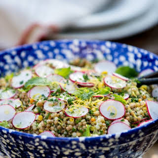 Couscous with Radish & Corn.
