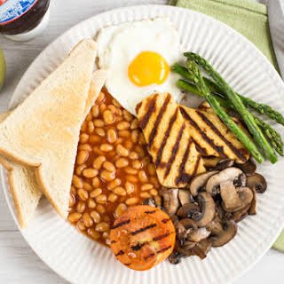Vegetarian full English breakfast.