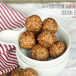 Oatmeal Rasin Cookie Dough Bites