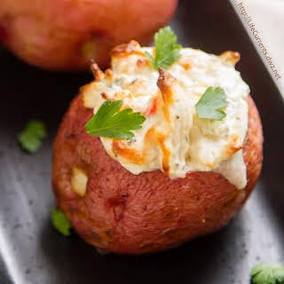 Crab Stuffed Baked Potatoes.
