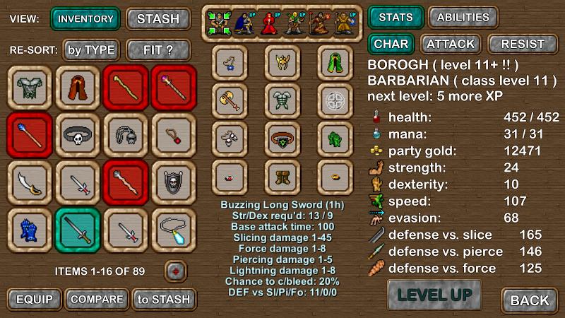 Dungeons of Chaos Screenshot 1