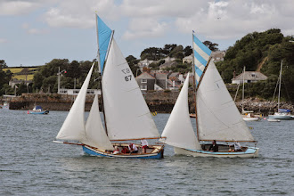 Photo: Traditional gaff-riggers in a Sunday regatta in Falmouth.