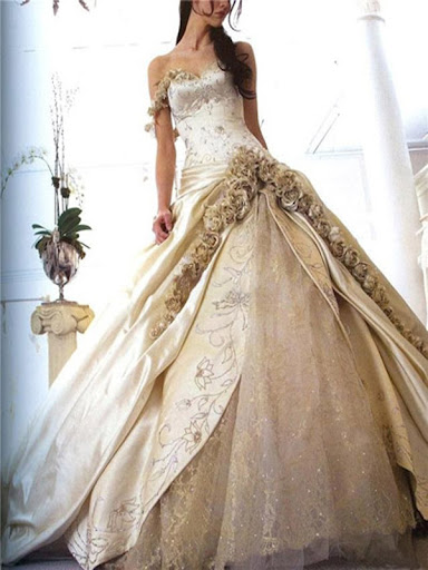 ivory ball gown beautiful wedding