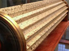 Photo: Large, cylindrical slide rule