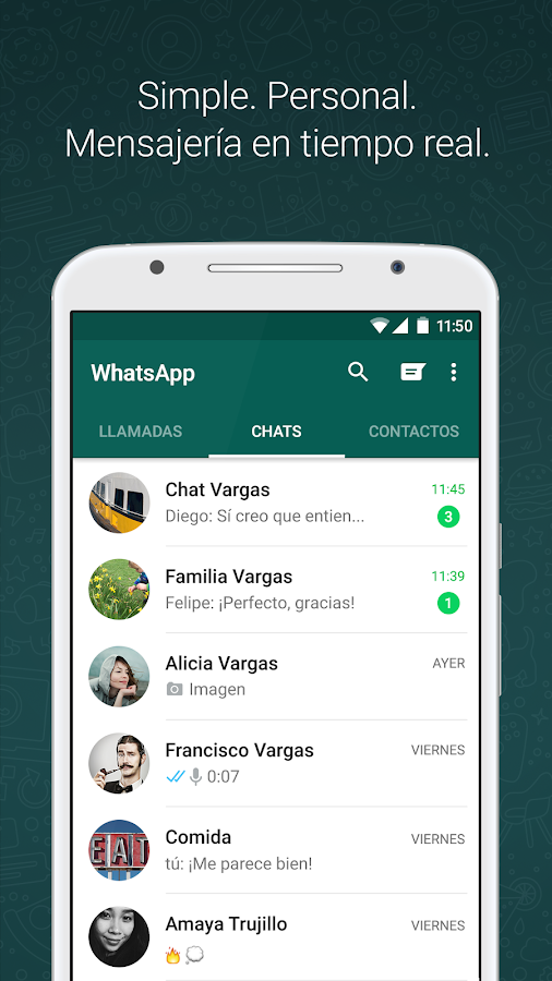 WhatsApp Messenger: captura de pantalla
