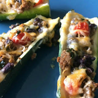 Mexican Zucchini Boats (21 day fix, clean eating).