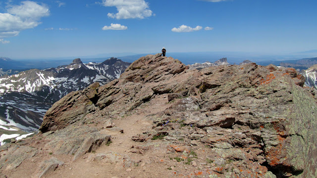 Chris on the summit of Uncompahgre Peak