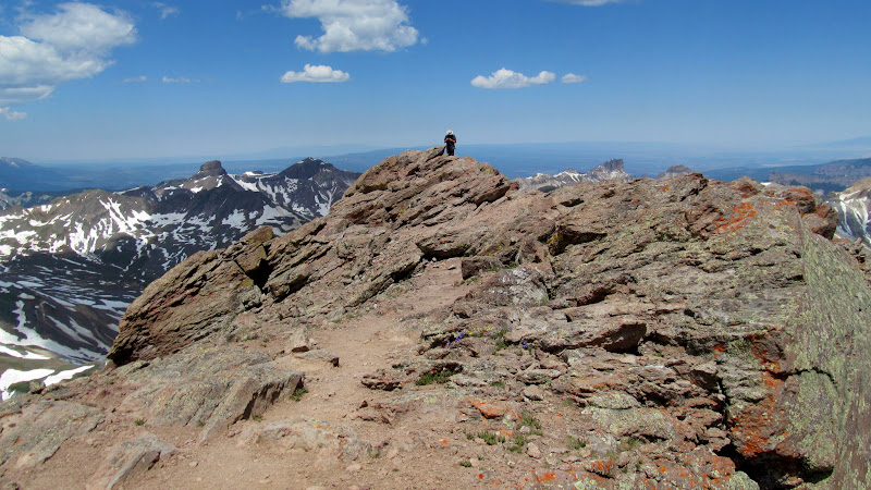 Photo: Chris on the summit of Uncompahgre Peak