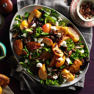 Roasted Apple Salad with Spicy Maple-Cider Vinaigrette Recipe