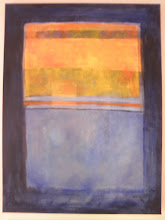 Photo: September 2011 Homage to Rothko in blue. Oil on canvas.