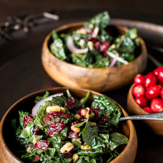 Simple Sundays | Cranberry Walnut Kale Salad with Fresh Cranberry Vinaigrette Recipe