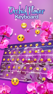 Orchid Flower Keyboard Themes - náhled