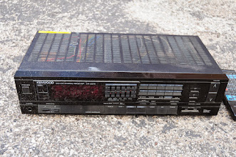 Photo: I replaced this with a Denon. It has the remote. It has a minor electrical problem somewhere inside that will require diagnosis/fix. I believe it is a single blown component between the preamp channel and the FETs.  Make offer, value to me = around $10 working, but it doesn't work right now...