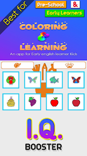 Pre-School English Learning and Coloring for Kids - náhled