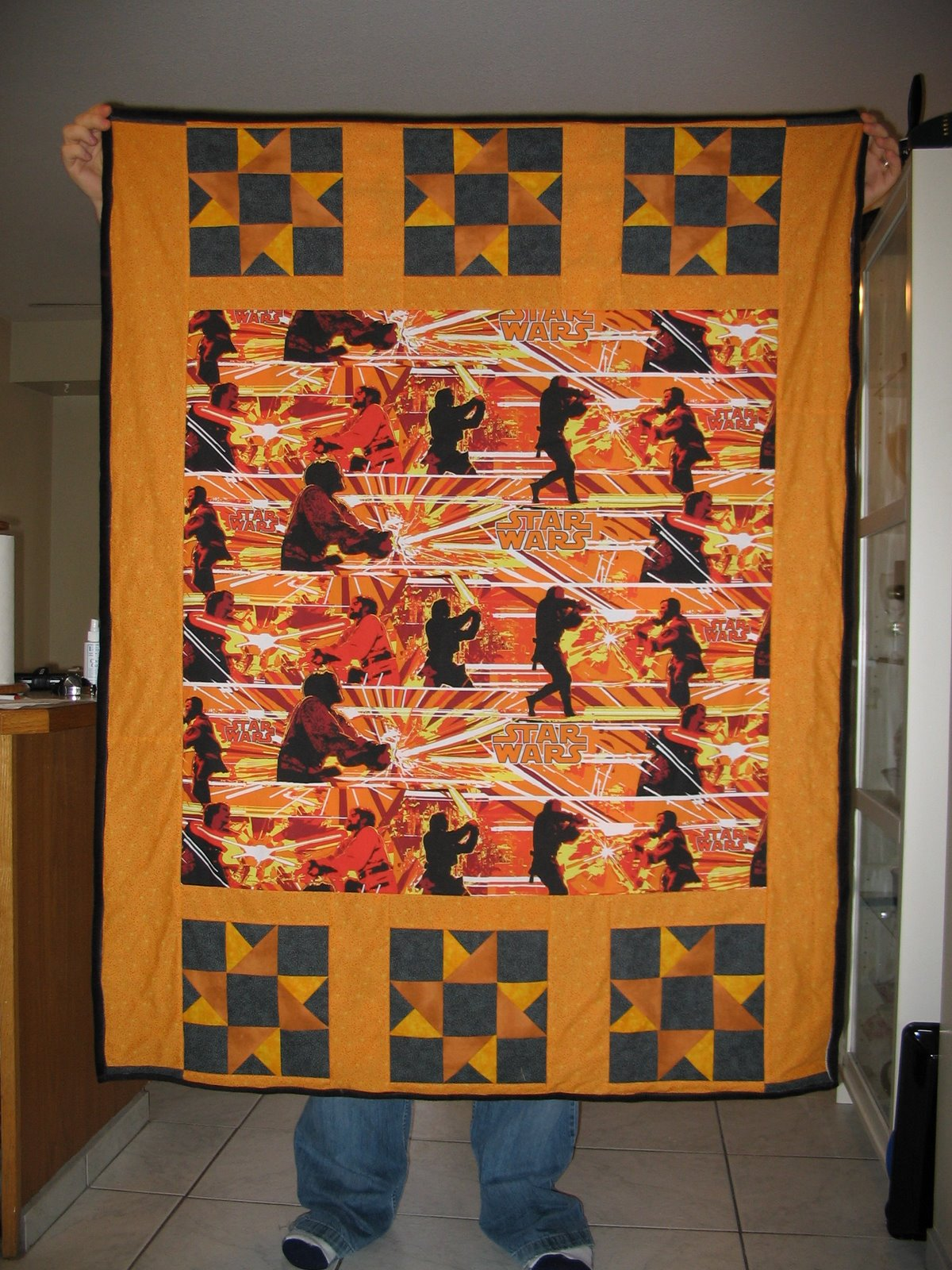 Photo: Star Wars quilt for our friend Chris