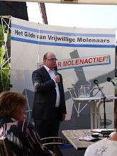 Photo: Welkomstwoord door Leo Endendijk directeur van vereniging de Hollandsche Molen