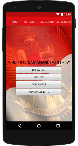 UUD 1945 dan Amandemen I-IV