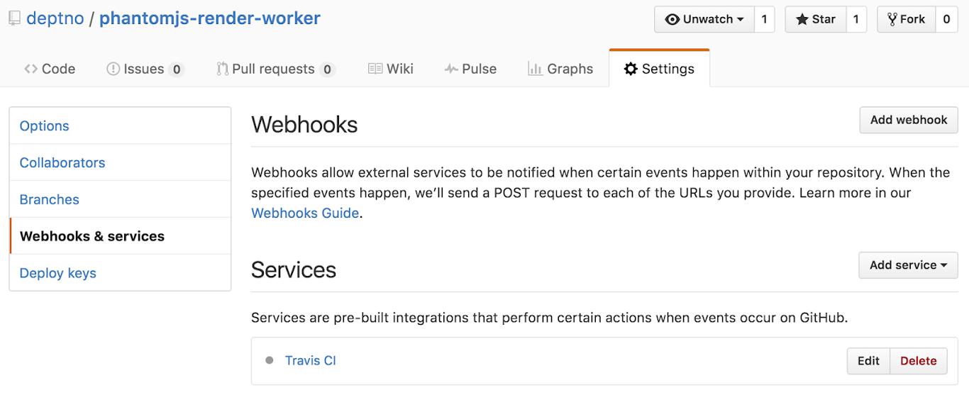webhooks&services