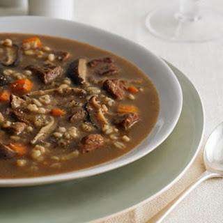 Beef, Shiitake and Barley Soup