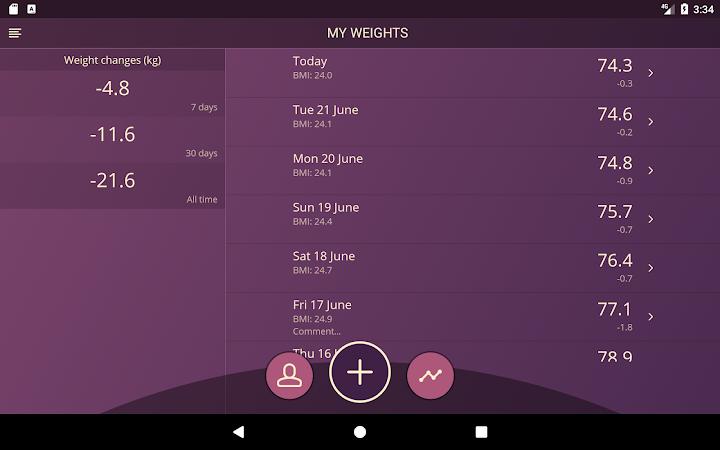 Handy Weight Loss Tracker, BMI v1.9.2