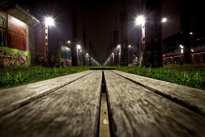 Panchina al Parco Dora di Torino di versil