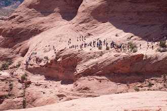 Photo: The hike down the two steep sections.  I took this from across the canyon from about 1/4 mile away.