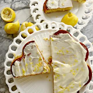Healthy Moist Lemon Cake.