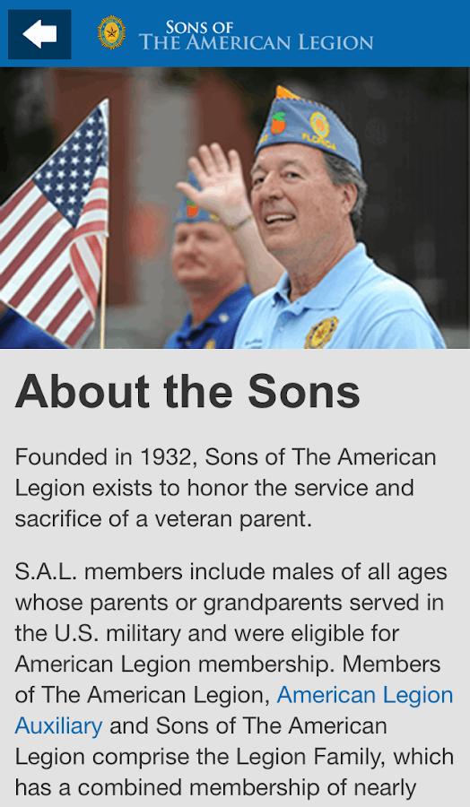 Sons of The American Legion- screenshot