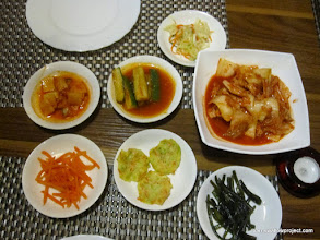 Photo: North Korean food at our hotel...Amazingly delicious!