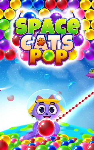 Space Cats Pop - Kitty Bubble Pop Games apktram screenshots 18