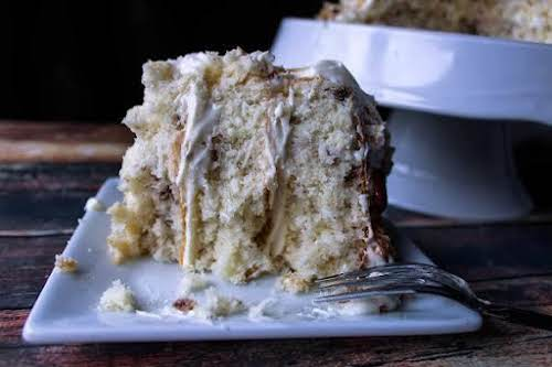 "Perfect Italian Cream Cake""Everyone loves this cake, and can't believe it starts..."