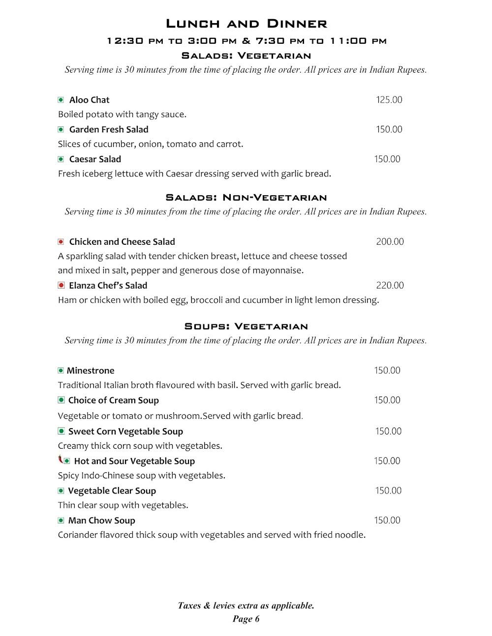 Cafe @ Elanza menu 7