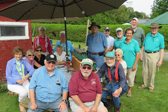 Photo: VGRS members with photographer, taken by host Peter Eaton