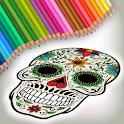 Halloween Mexican Sugar Skulls - Coloring Game icon