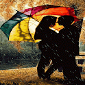Love In Rain Live Wallpaper icon
