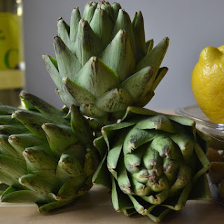 Braised Artichokes with Lemon and Olives