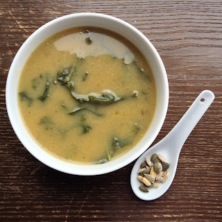 Black-eyed Peas, Apple and Kale soup
